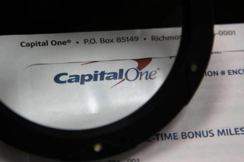 A July 22, 2019, photo shows Capital One mail in North Andover, Mass. A security breach at Capi ...