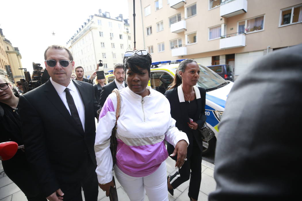 Renee Black, ASAP Rocky's mother, arrives to the district court where US rapper A$AP Rocky is t ...
