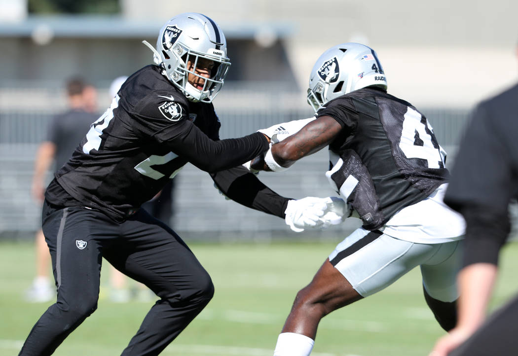 separation shoes 9eb5a e316d Raiders rookie Johnathan Abram finds room to grow | Las ...