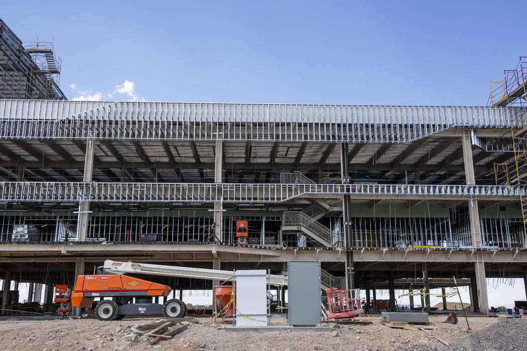 The lobby, theatre, cafe and office spaces under construction of the Raiders' headquarters in H ...