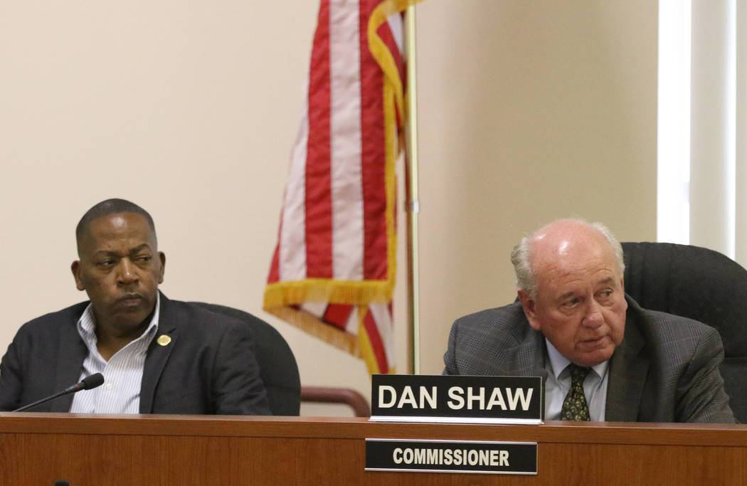 Southern Nevada Regional Housing Authority Commissioners, Lawrence Weekly, left, and Dan Shaw, ...