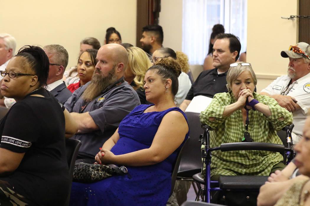 Southern Nevada Regional Housing Authority (SNRHA) employees, including Martha Floyd, second ri ...