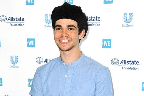 FILE - This April 25, 2019 file photo shows actor Cameron Boyce at WE Day California in Inglewo ...