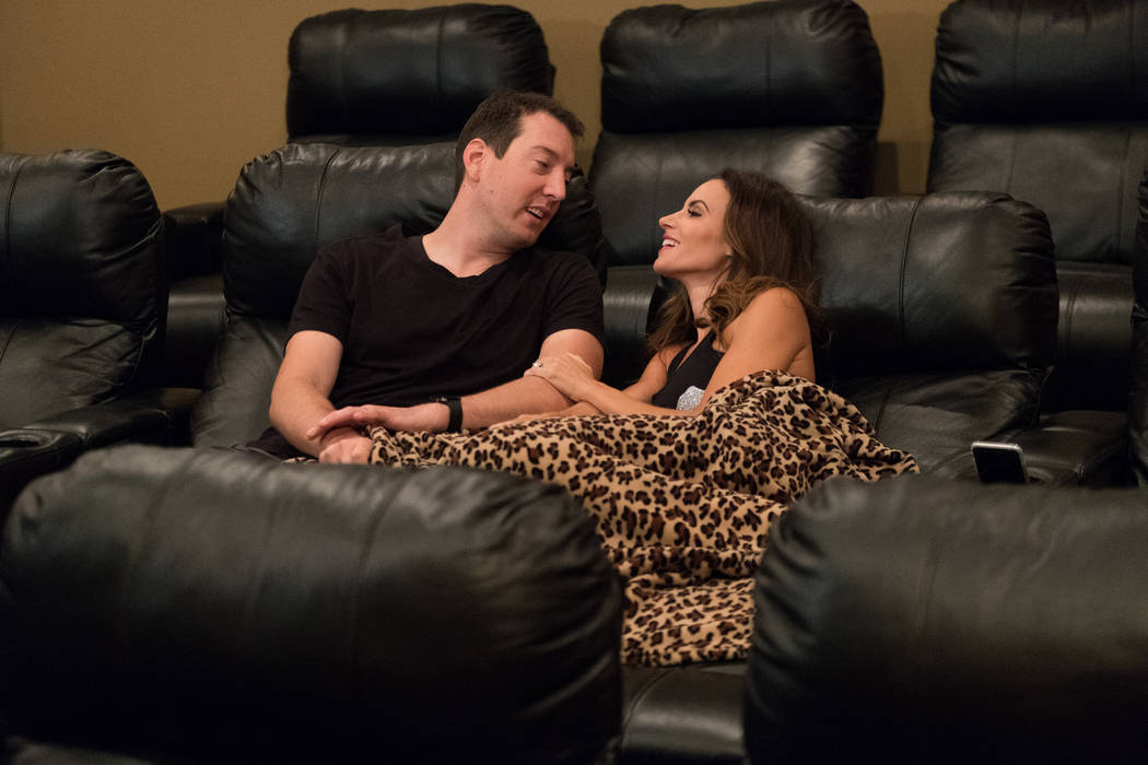 """Samantha and Kyle Busch from """"Racing Wives."""" (CMT)"""