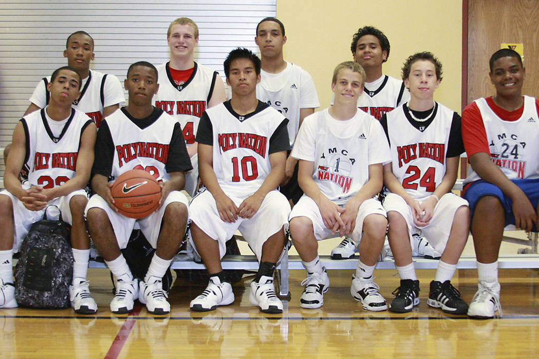 Amir Garrett, second row, far left, is shown in a 2008 photo when he played for the YMCA's Poly ...