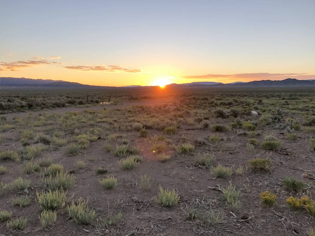 The sun rises over terrain where a hunter can typically find pronghorn antelope in the Silver S ...
