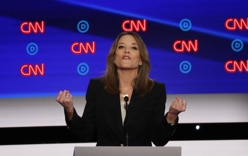 Marianne Williamson participates in the first of two Democratic presidential primary debates ho ...