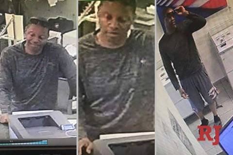 Las Vegas police are looking for this man who was seen with Esmeralda Gonzalez at a local busin ...