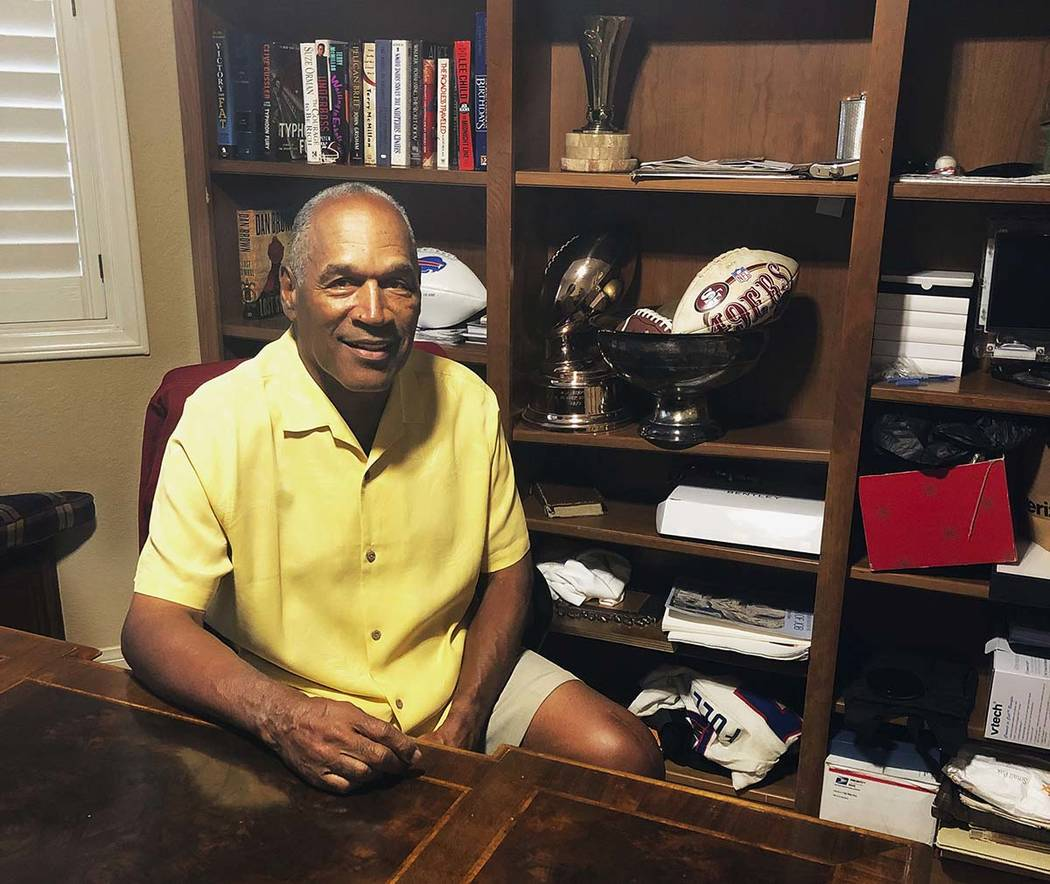 This Thursday, June 6, 2019, photo shows O.J. Simpson in his Las Vegas area home. After 25 year ...