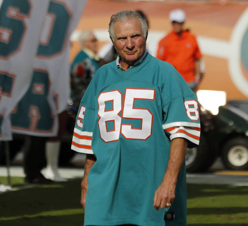 FILE - In this Dec. 16, 2012, file photo, Nick Buoniconti, former Miami Dolphins player and mem ...