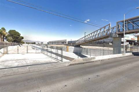 Las Vegas Wash, on Charleston Boulevard near Nellis Boulevard in east Las Vegas. (Google Street ...