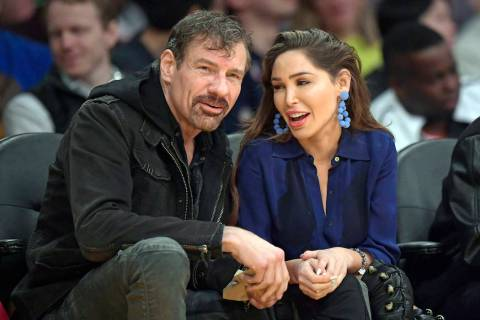 Henry Nicholas III and Ashley Fargo during the second half of an NBA basketball game between th ...