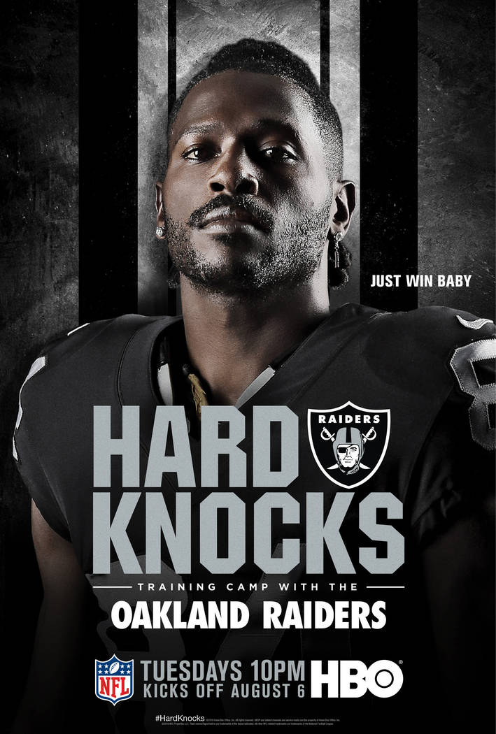 """Raiders' Antonio Brown featured on an HBO poster for their upcoming series """"Hard Knocks"""" featur ..."""