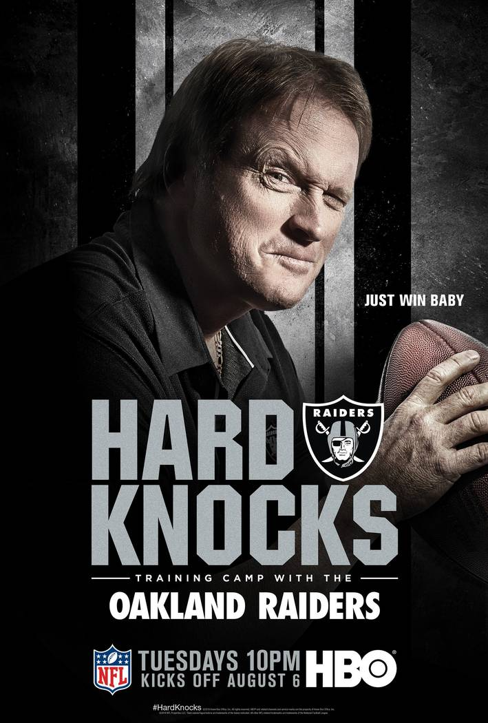 """Raiders coach John Gruden featured on an HBO poster for their upcoming series """"Hard Knocks"""" fea ..."""