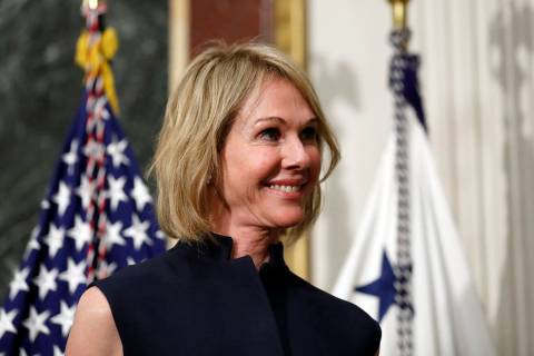 FILE - In this Sept. 26, 2017, file photo, U.S. Ambassador to Canada Kelly Knight Craft stands ...