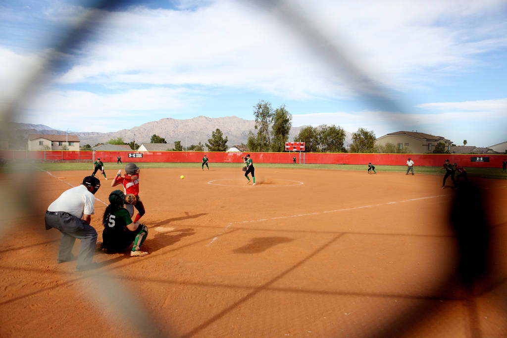 Palo Verde's Taylor Askland (3) pitches during a game against Arbor View at Arbor View ...
