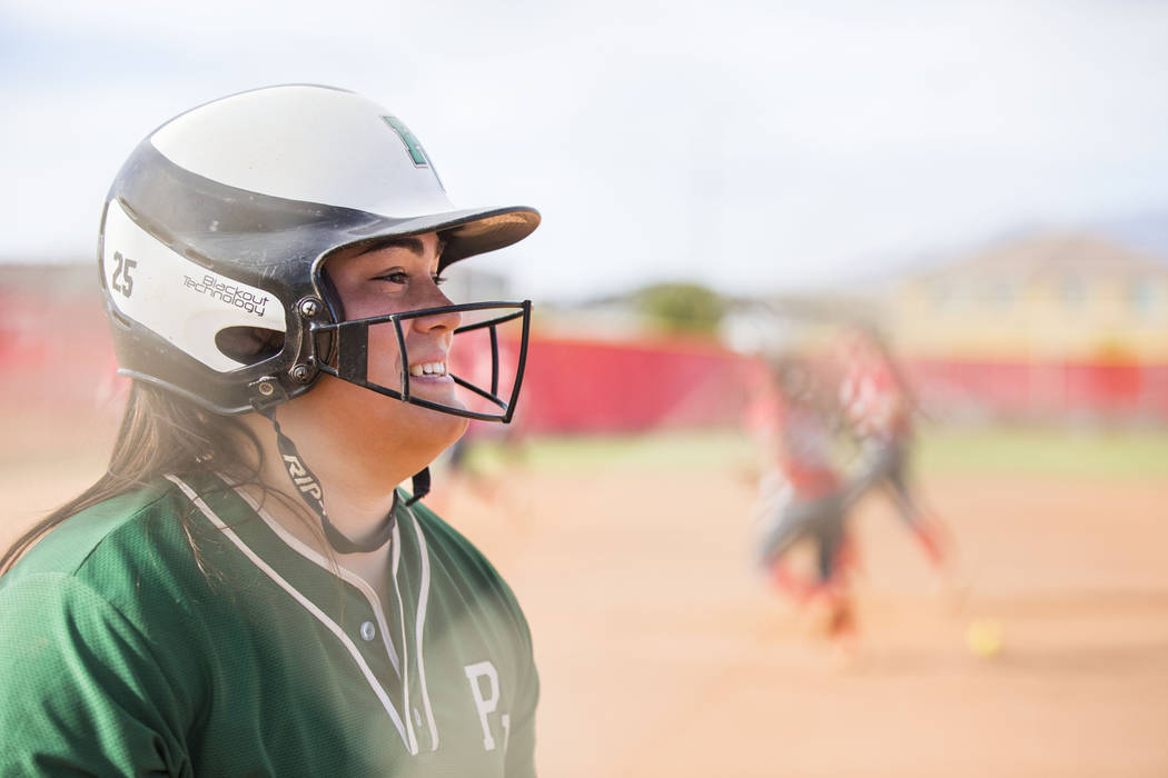 Palo Verde's Grace Chavez (25) prepares to bat during a game against Arbor View at Arb ...