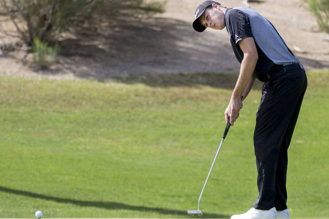 Palo Verde's Jack Trent on the 16th hole during the Sunset Region boys golf tournament ...
