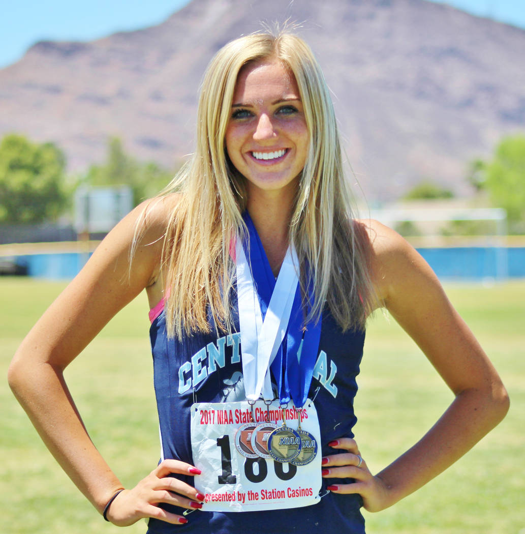 Talie Bonds, Centennial: The senior swept the hurdles events at the Class 4A state meet with ...