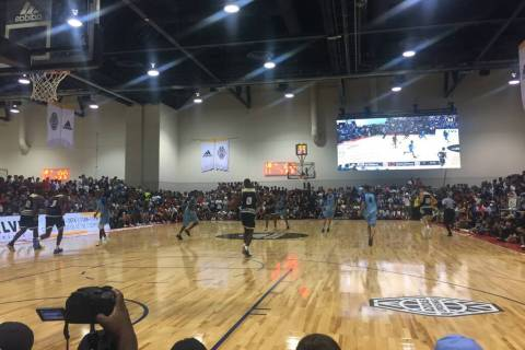 Fans pack the Cashman Center to watch the adidas Summer Championships in Las Vegas on July 2 ...
