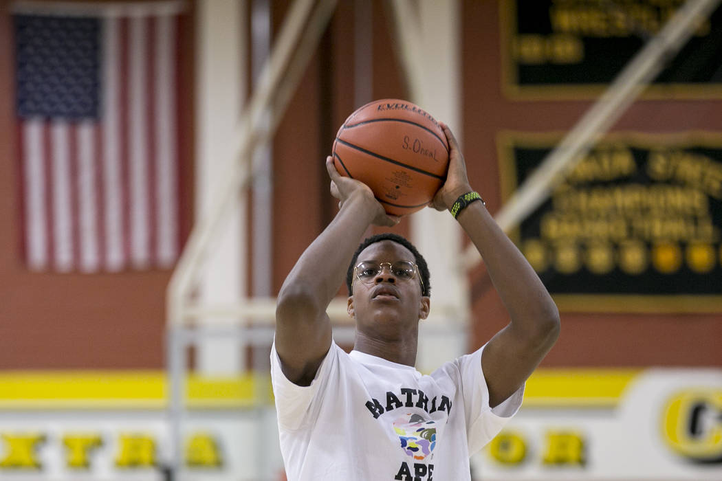 Cal Supreme player Shareef O'Neal, son of Shaquille O'Neal, practices at Ed W. C ...