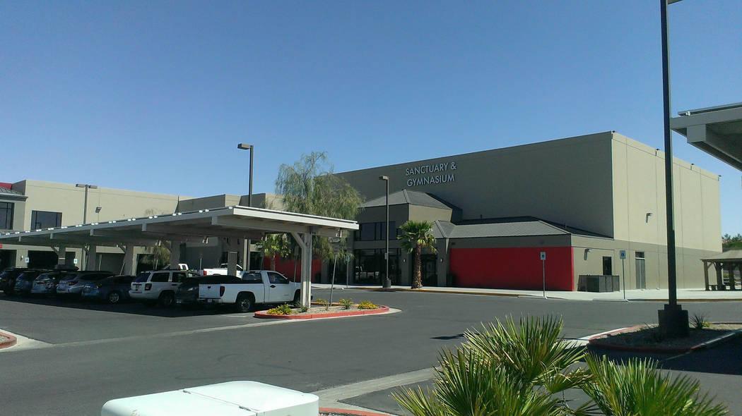 Jonathan Saxon/Las Vegas Review-Journal The basketball facility at Calvary Chapel, whe ...