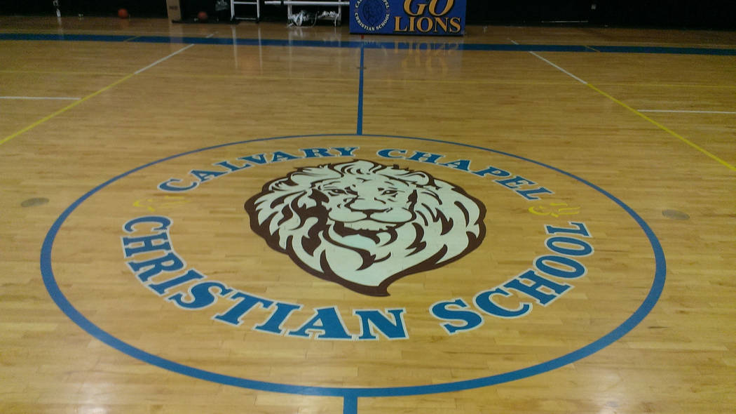 Jonathan Saxon/Las Vegas Review-Journal The basketball court at Calvary Chapel, where ...