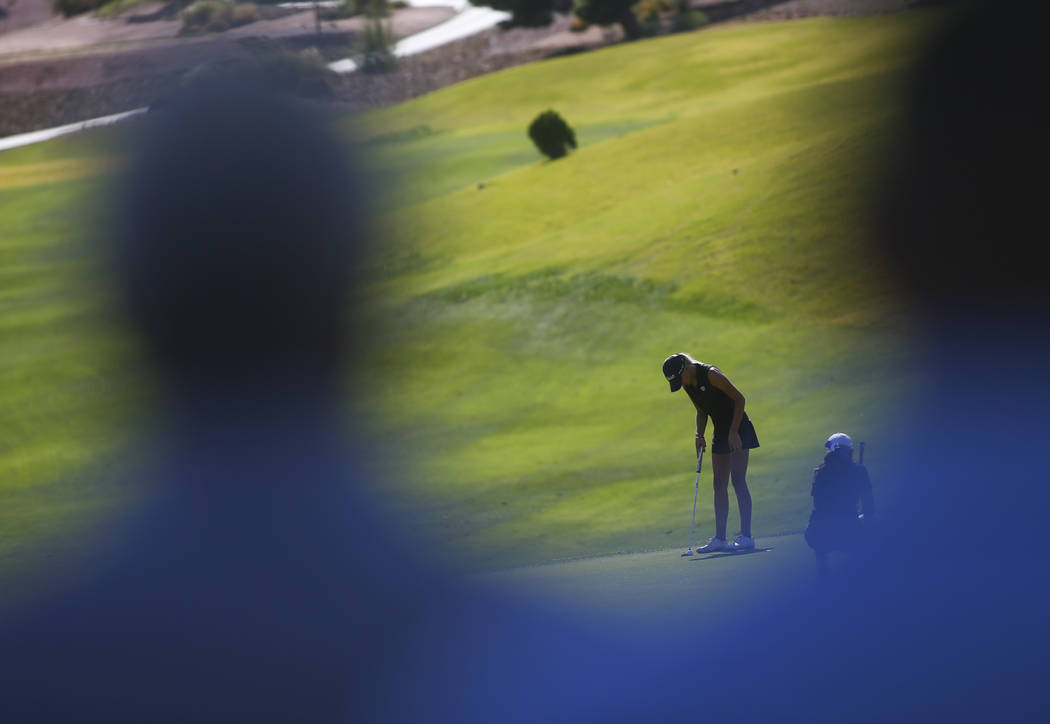 Palo Verde's Annick Haczkiewicz competes during the Class 4A state girls golf tourname ...