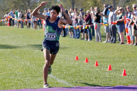 Green Valley's Milton Amezcua (274) competes during the Boys Cross Country Class 4A Su ...