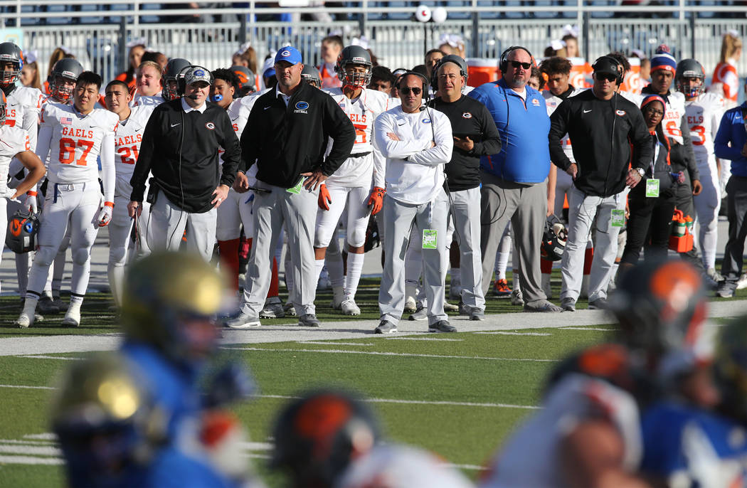 Bishop Gorman defeats Reed 48-7 for NIAA 4A state championship in Reno, Nev., on Saturday, D ...