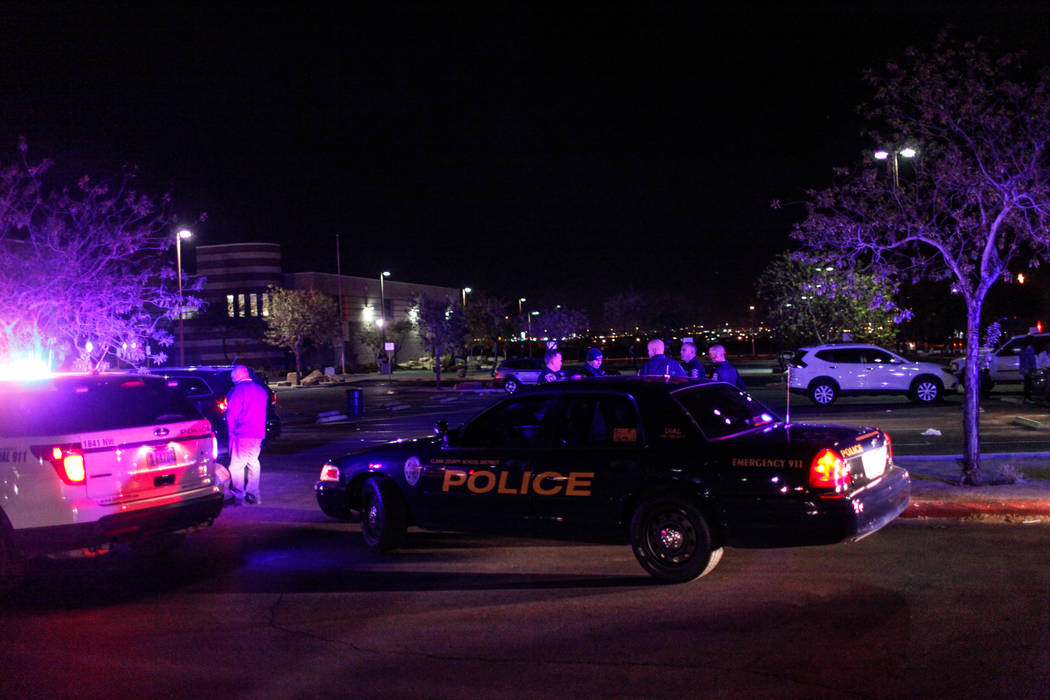 Officers respond after using pepper spray to break up a fight following a basketball game at ...