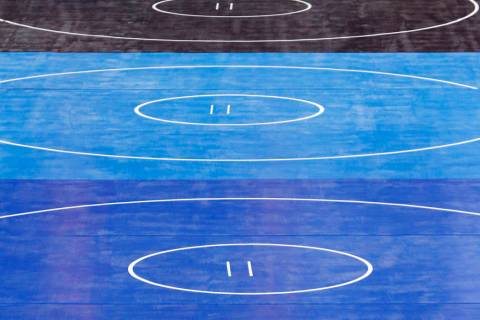 Wrestling mats are seen in this undated file photo. (AP Photo, file)