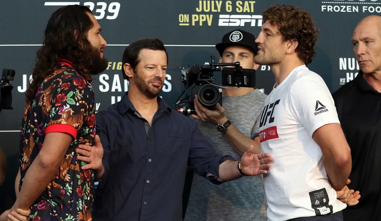 UFC 239: Ben Askren laughs off 'mad' Jorge Masvidal   Las ...