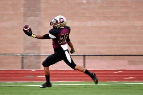 Faith Lutheran running back Keenan Smith has scored 10 touchdowns for the Crusaders this sea ...