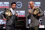 Manny Pacquiao mum, Keith Thurman boastful as title fight looms