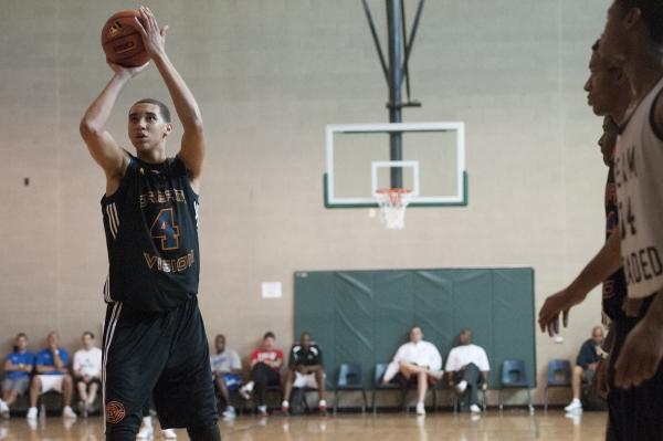 Chase Jeter takes a free throw for the Dream Vision 16s in a game against Team Loaded in the ...