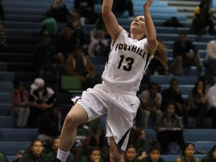 Foothill's Kelsey McFarland goes up for a shot against Green Valley on Tuesday. McFarl ...