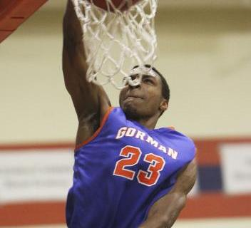 Bishop Gorman's Nick Blair puts in a layup against Sheldon (Calif.) on Thursday. Blair ...