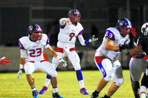 Liberty quarterback Tyler Newman passed for 3,988 yards and 42 TDs and was named the state&# ...