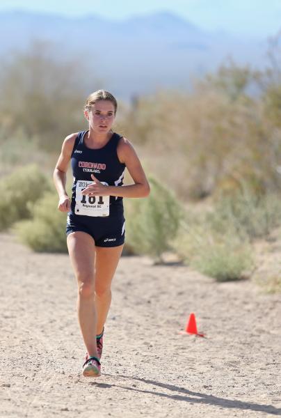 Coronado's Sara Dort pulls away to win the Sunrise Region girls meet.