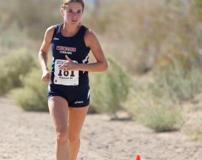 Coronado's Sara Dort pulls away to win the Sunrise Region girls meet.