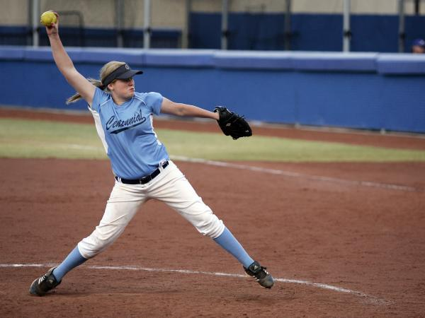 Centennial's Kate Rauskin fires a pitch during the sixth inning on Wedesday against Ar ...