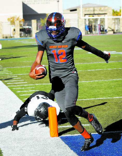 Randall Cunningham of Bishop Gorman runs into the end zone for a touchdown against Palo Verd ...