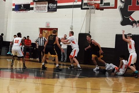 Chaparral's Jake Richter looks to make an outlet pass after pulling down a rebound in ...