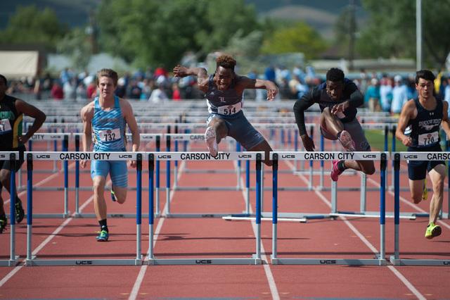 David Washington, Liberty: The junior won the 110-meter hurdles at the Division I state meet ...