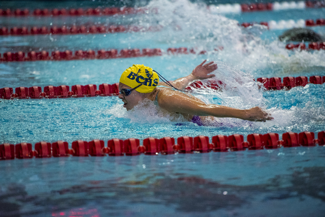 Montana Lloyd, Boulder City: The junior set Division I-A state-meet records in the 200 IM (2 ...
