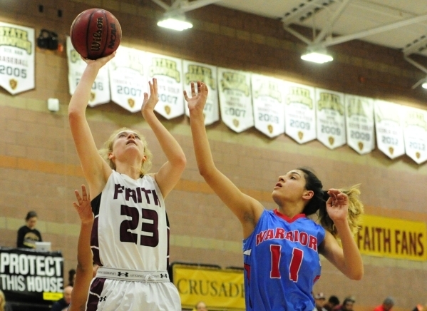 Bryanna Neagle (23) is one of two returning starters for the Crusaders. (Josh Holmberg/Las V ...