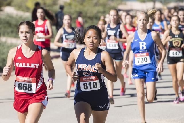 Emily Baker, left and Imee Rose Dichoso participate in the women's junior-senior race ...