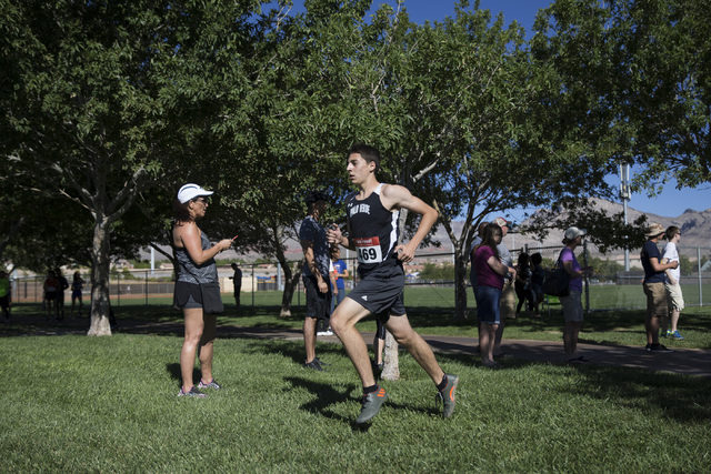 Palo Verde's Daniel Ziems, who finished third place, runs in the cross country boys v ...