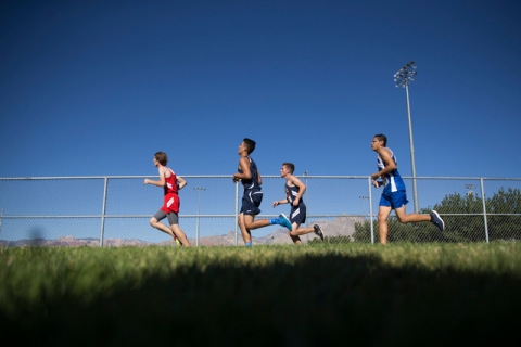 Boys varsity runners compete in the Palo Verde Labor Day Classic at Palo Verde High School o ...